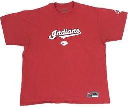 NIKE Cleveland Indians Red T Shirt Chief Wahoo Logo MLB Baseball S/S Adult Sz XL - $12.98