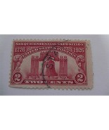 Old Sesquicentennial Exposition Issue Carmine Vintage USA Used 2 Cent Stamp - $7.49