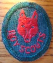 Boy Scouts circa 1960's Vintage Crest 1 1/2 Inch Scouting Collectible Wolf Pack - $8.95