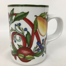 Dansk Holiday Harvest Mug Fruit Ribbons Christmas Cup International Designs - $8.76