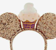 Disney EPCOT Food and Wine Festival 2019 Cupcake Rose Gold Minnie Ears Headband - $14.80