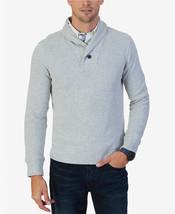 $80 Nautica Men's Shawl-Collar Sweater, Grey Heather, Size XL - $34.64