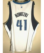 Dallas Mavericks Dirk Nowitzki #41 NBA Store White Blue Home Jersey 56 3... - $148.49