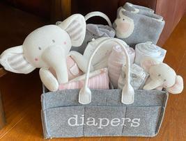 Amelia Elephant Baby Diaper Gift Basket - $79.00