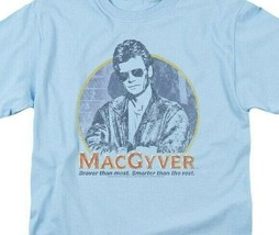 MacGyver Retro 80s adventure action TV series blue graphic t-shirt CBS1640 image 2