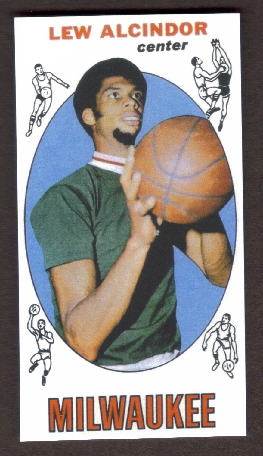Primary image for LEW ALCINDOR Kareem Abdul-Jabbar Rookie Card RP #25 Bucks RC 1969 Free Shipping