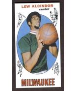 LEW ALCINDOR Kareem Abdul-Jabbar Rookie Card RP #25 Bucks RC 1969 Free Shipping - $3.29