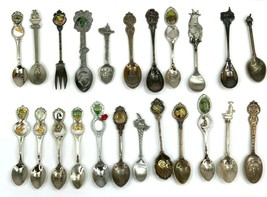 Lot of 23 Assorted Vintage Teaspoons From Cities Locations Collectables  - $93.50
