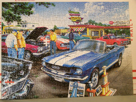 Classics - Masterpieces Jigsaw Puzzle 500 Piece (missing 2) #31046 Blue Mustang - $8.98
