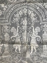Antique Table Runner Figural Lace Angels Cherubs Net Valentines As Is Fo... - $17.72