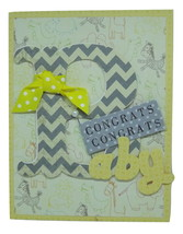 "Baby Boy Card/ : the first steps a baby takes is into your heart."" - $7.50"