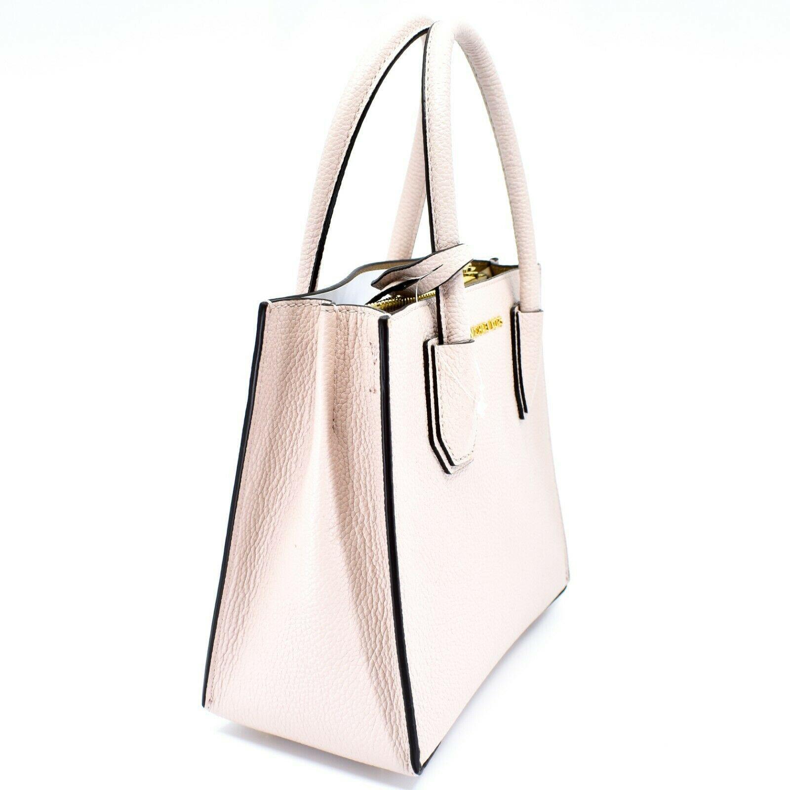 Michael Kors Mercer Soft Pink Pebbled Leather Medium Crossbody Messenger Bag image 4