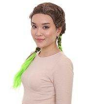 Briaded Wig, Brown/Green HW-1420 - $31.85