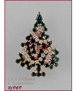 Signed Eisenberg Ice Garland Christmas Tree Pin Smaller Size (#J969) - $60.00