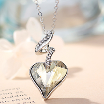 Necklaces & Pendants For Women - Austrian Crystal Rhinestones 4 Color Heart Love image 6