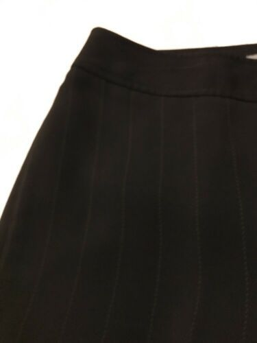 Ann Taylor Women's Pants Black Pinstripe Fully Lined Dress Pants Size 10 X 30 image 3