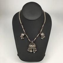 Afghan Turkmen Kuchi Jingle Bells Chandelier Boho ATS Choker Necklace,TN283 - $12.00