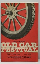 Dearborn Mich 18th OLD CAR FESTIVAL 1968 Program Henry Ford & Greenfield... - $14.95