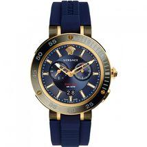 Versace VCN010017 V-Extreme Blue Dial Rubber Strap Men's Watch - $1,516.09