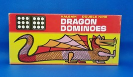 Vintage Halsam Double Nine DRAGON DOMINOES No 920 Playskool  55 PIECES  - $14.84