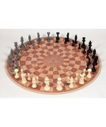Three Player Chess Circular Hand Board Strategy Game Family Playing Set ... - $61.68