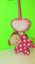 Musical plush crib hanging baby doll KAREN KATZ, FROM BOOK Counting Kisses - $4.99