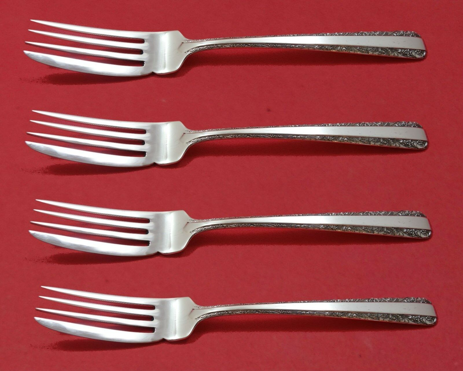 """Candlelight by Towle Sterling Silver Fish Fork Set 4pc AS Custom Made 7 1/4"""""""