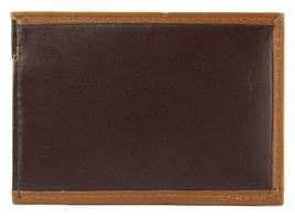 NEW TOMMY HILFIGER MEN'S PREMIUM LEATHER SLIM CARD CASE WALLET BROWN 4268-02 image 4