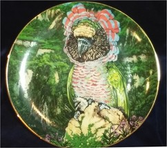 Red Fan Parrot Porcelain Plate Collectible Royal Cornwall Exotic Birds T... - $19.99