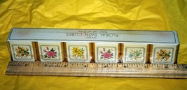 Avon  FLORAL  Set of 6 Fragranced Bath Cubes  Vintage 1983  Sealed but READ - $11.95