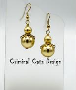 Swarovski Pearl Gold Angel Earrings - $15.00