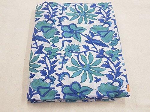 2.5 Yard Indigo Blue Fabric Hand-Dyed Shibori Cotton Bandhani Jaipuri Dress fab