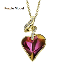 Necklaces & Pendants For Women - Austrian Crystal Rhinestones 4 Color Heart Love image 4