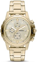 Fossil Dean Chronograph Gold Tone Stainless Steel Fs4867 Men's Watch - $186.00