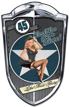 "Bomber Babe Grill Pinup Plasma Cut Metal Sign ( 36"" by 24"" ) - $99.95"