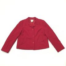 Vtg Talbots Damen 12 Wollblazer Gefüttert Rot Jacke Knopfverschluss - $27.72