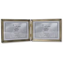 Lawrence Frames 11475D Antique Gold Bead Hinged Double Picture Frame, 7 ... - $17.71