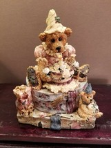1993 Boyds Bear Figurine Music Box Happy Birthday #668099 w/Box & COA - $24.85