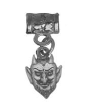 Satan Devil face head Sterling Silver .925 Halloween European bead Charm Jewelry - $15.80
