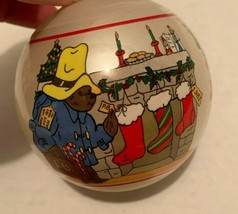 Vintage Paddington Bear Schmid Holiday Christmas 1981 Ornament Bear Hopes - $12.82