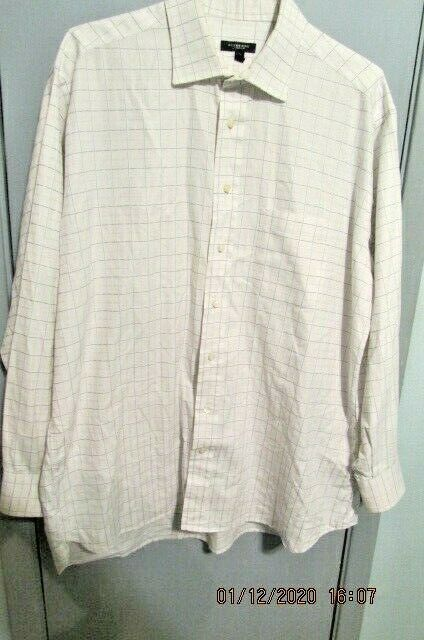 Primary image for BURBERRY London Men's Striped Button Down Long Sleeve Shirt Sz 171/2  35 USA