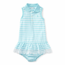 Ralph Lauren Baby Girls Sleeveless Striped Polo Dress & Bloomer - $30.00