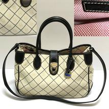Dooney Bourke Small Double Handle Tote Shadow DB Handbag Purse Shoulder Bag Rare - $149.95