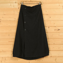 Women A Line Cotton Linen Skirts Linen Casual Skirt, Army Green Navy,  One Size image 4