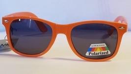 Classic Original Neon Orange Glare Blocking Polarized Sunglasses w Spring Hinges - $7.65