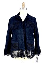AS65 Womens Black Leather Suede Fringe Moto Jacket S RARE NWT MSRP $4900 - $1,499.00
