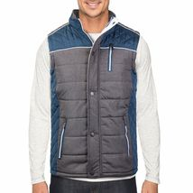Holstark Men's Zip Up Multi Pocket Insulated Fleece Lined Two Tone Athletic Vest image 14