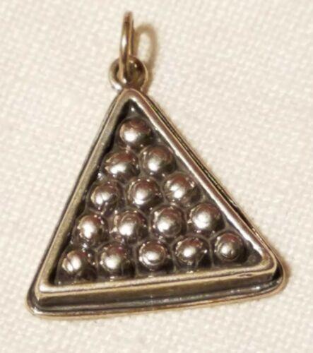Sterling Silver 8 Ball Charm Pendant Billiard Jewelry