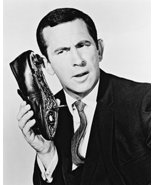 Get Smart B&W 16x20 Canvas Giclee Don Adams With Shoe Phone - $69.99