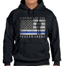 Police Backbone of America Sweatshirt Valor Service Duty Cop Patrol Sweater